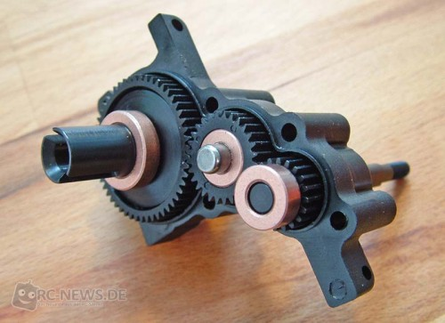 Dreistufiges Getriebe mit Gleitlagern