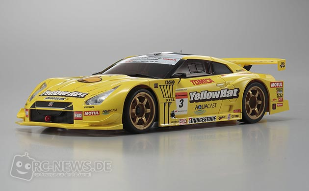 kyosho mini z mr 03 nissan gt r yellow hat. Black Bedroom Furniture Sets. Home Design Ideas