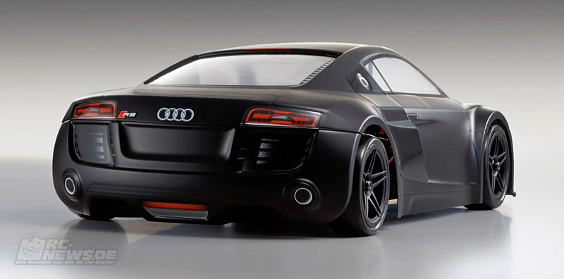 kyosho fazer ve audi r8 matte black readyset. Black Bedroom Furniture Sets. Home Design Ideas