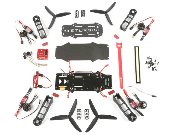 Robitronic-RaceCopter-FPV-250-ARF-250-Combo-Kit-2